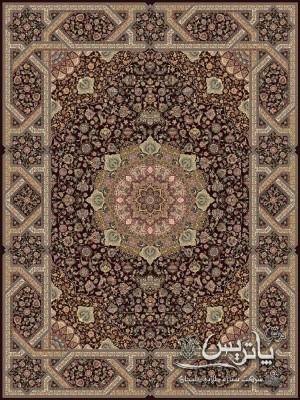 تصویر فرش چلیپا بادمجانی ۱۲۰۰ شانه