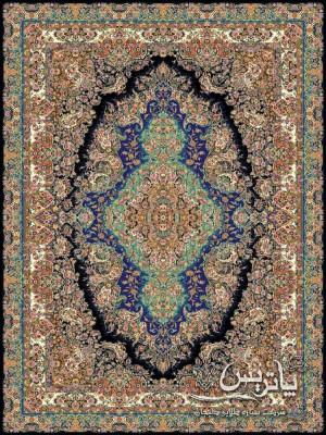 فرش سارینا مشکی ۱۰۰۰ شانه