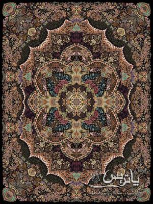 تصویر فرش مستان مشکی ۱۰۰۰ شانه ۶ متری