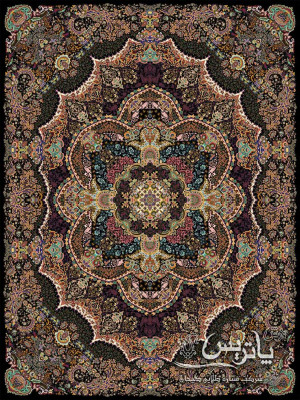 فرش مستان مشکی ۱۰۰۰ شانه