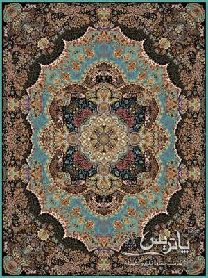 فرش مستان فیروزهای ۱۰۰۰ شانه ۱۲ متری