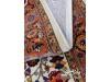 نمای نزدیک نقش و نمای فرش گلیم لوتوس کرم ۴۰۰ شانه پاتریس
