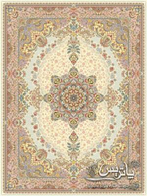 تصویر فرش ابریشم کرم ۱۲۰۰ شانه