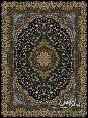 تصویر فرش اطلس مشکی ۱۲۰۰ شانه