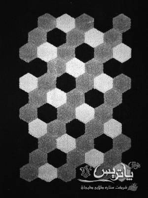 فرش هندسی طوسی ۲۰۰ شانه