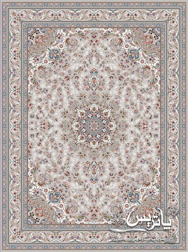 تصویر فرش گلدیس کرم ۱۲۰۰ شانه