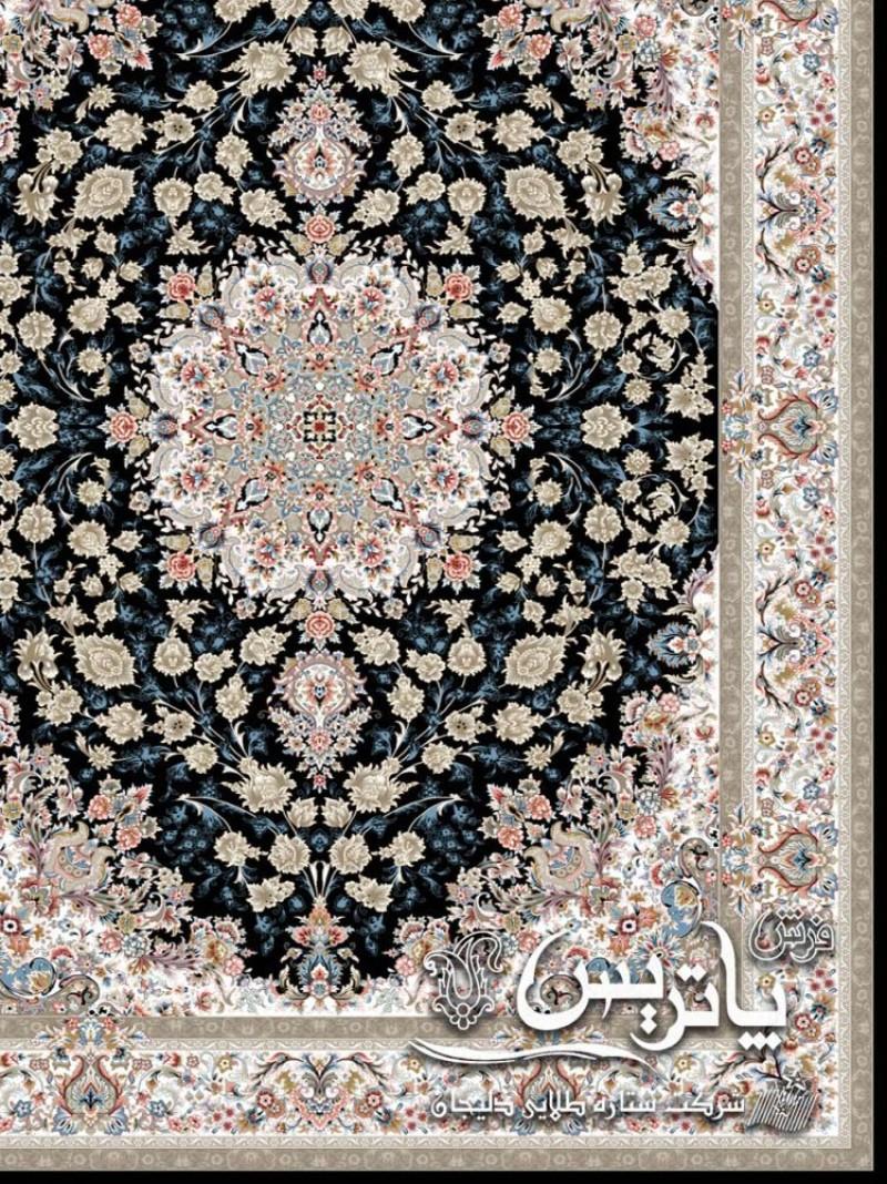 تصویر ترنج فرش پامچال سرمهای ۷۰۰ شانه