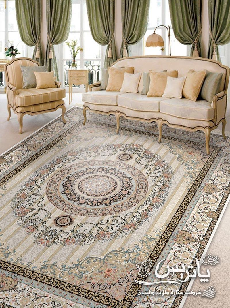 نمای فرش طلا کرم ۱۰۵۰ شانه فرش پاتریس در دکوراسیون داخلی