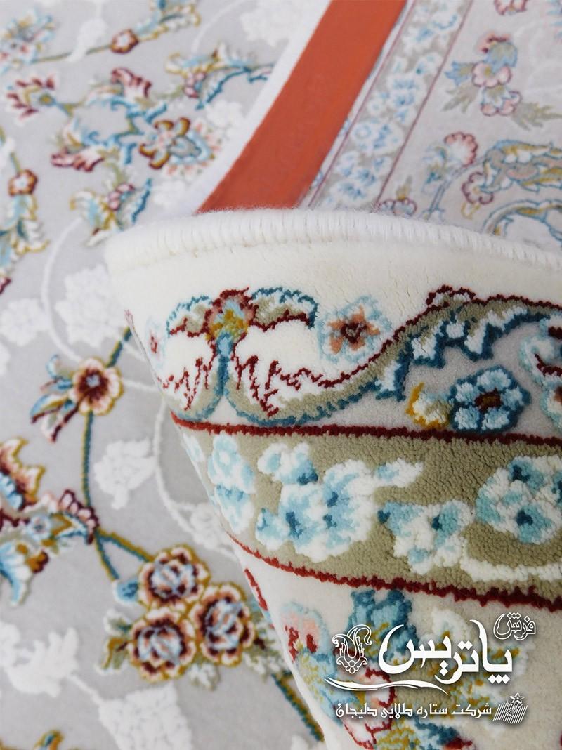نمای نقش و نگار فرش گیتا کرم ۱۰۵۰ شانه فرش پاتریس